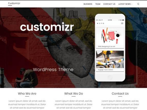 customizer tema wordpres